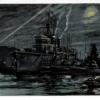 潜水艦を抱いて休ませる潜水母艦 少年倶楽部付録 飯塚羚児画