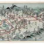 京城電気株式会社 朝鮮 朝鮮京畿道京城府南山 鳥瞰図