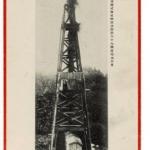 日本石油株式会社秋田油田黒川17号井噴油の景