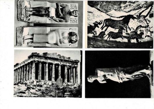 ラ・ヘテプ・ネフェルト座像/ラスコー壁画 ミロのヴィナス像/パルテノン神殿